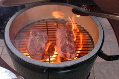 Perfect Medium Rare Beef Ribeye Steak using a Big Green Egg BBQ Grill — The 350 Degree Oven