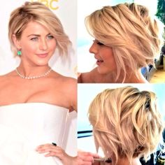 Julianne Hough - short, asymmetric Bob...