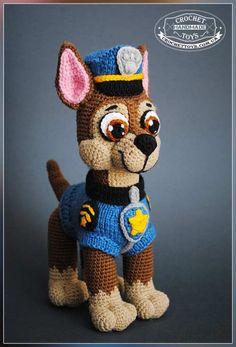 Вязаная собака-полицейский Т-9