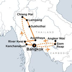 Thailand & Angkor Wat Tour:  Making all your favourite Thai dishes in a cooking class, Experiencing Buddhist ceremonies, Learning about the history and conservation of elephants, Supporting a school in Siem Reap with lunch visit, Walking into the past with visits to UNESCO World Heritage sites