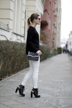 hoard of trends: outfit: black & white. ⎜personal style and fashion blog by magdalena from berlin