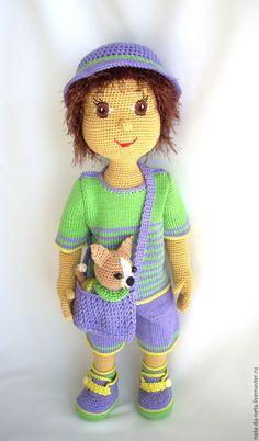 Купить Маленький сорванец.Кукла вязаная.Кукла- мальчик.Кукла игровая - кукла вязаная крючком ♡