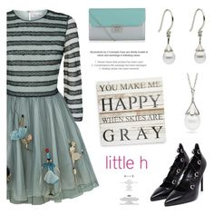"""""""Happy with Little hJewelry"""" by littlehjewelry ❤ liked on Polyvore featuring RED Valentino, Yves Saint Laurent and Second Nature By Hand"""