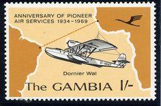 """Hidroavión Dornier Wal, de la Deutsche Lufthansa, que transportaba el correo tras ser catapultado desde el buque alemán """"Westfalen"""" en 1934"""