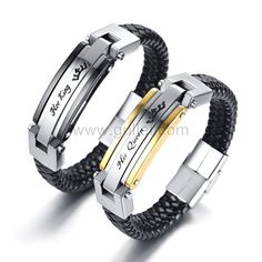 Gullei.com Her King His Queen Promise Bracelets Gift for Couple Personalized Couples Gifts | Matching Necklaces & Bracelets | Custom Promise Rings Couple Jewelry, Couple Bracelets, Bracelets For Men, Bracelet Men, Silver Bracelets, Bangles, Kids Jewelry, Silver Rings, Promise Bracelet