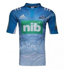 2017-18  New Zealand Blue Rugby Shirt