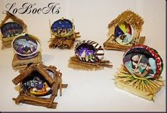 LoBocAs-pesbre26 Christmas Sled, Xmas, Fall Crafts For Kids, Snow Globes, Polymer Clay, Paper Crafts, Christmas Crafts, Embellishments, Christmas Manger