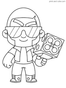 There are many high quality Brawl Stars coloring pages for your kids - printable free in one click. Blow Stars, Star Coloring Pages, Clever Halloween Costumes, Simpsons Art, Star Party, Science Experiments Kids, Sailor Moon, Smurfs, Free Printables
