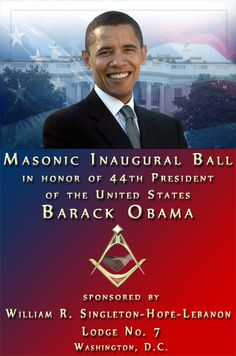 ❥ Barack Obama is a 32nd Degree Prince Hall Mason!~ I know, you find this just as surprising as I do... right