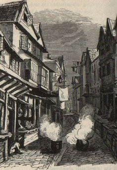 Smythen Street in Exeter in 1832.