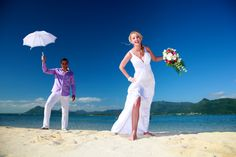 Renata & Peter  at the Paradise resort , one of the best hotel in indian ocean