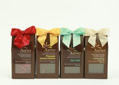 Arno Chocolates Half Pound package available in all of our decadent flavors.