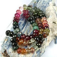 skj-jewelry - Multi Color Real Tourmaline Gemstone Beads - High Grade Untreated Gemstone