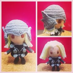 Repost my #Thor #amigurumi #crochet #dolls made long time ago, may be half year before