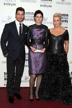 Scottish Fashion Awards;  Model: David Gandy  with Tessa Hartmann & Stella Tenant  Blog Post:Awards, Answers and a Licence to Thrill (Vogue.com UK)