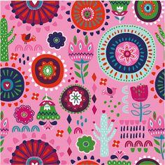Látka úplet flowers pink Textiles, Flowers, Pink, Fabrics, Royal Icing Flowers, Pink Hair, Flower, Florals, Roses