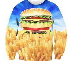 Holy Burger Sweater from Shelfies. Saved to shirts, sweaters, jackets. Diesel Punk, Ugly Sweater Party, Ugly Christmas Sweater, Burger And Fries, Burger Bar, Funny Sweaters, Funny Shirts, Delicious Burgers, Kawaii