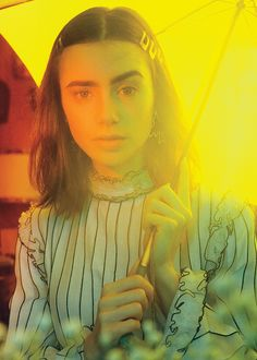 Lily Collins for Glamour Magazine.