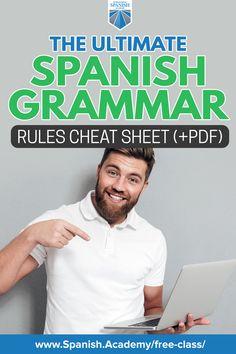 The Ultimate Spanish Grammar Rules Cheat Sheet (+PDF)