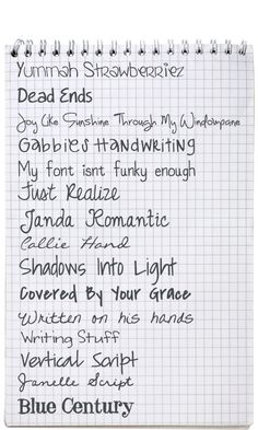 """Mummy to Five's Top 15 Go-To Fonts for Journaling  ~~  {15 free fonts w/ links - most are from Fonts 101 - which isn't a """"bad"""" site - but I don't like all the Spam they have so for the ones I wanted I searched Dafont.com and got them from there}"""