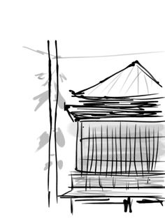 "sumie ( black-and-white painting ) by iOS app ""Zen Brush"". I used a iPad."