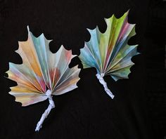 Frunze din hartie - activitati de toamna pentru copii | .printre nori