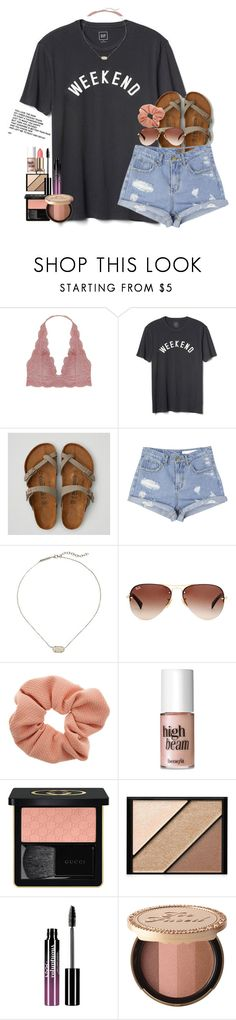 """""""I got liquid highlighter on my new dress🙄"""" by southernstruttin ❤ liked on Polyvore featuring Humble Chic, Gap, American Eagle Outfitters, StyleNanda, Kendra Scott, Ray-Ban, Dorothy Perkins, Benefit, Gucci and Elizabeth Arden"""