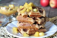 Caramel Apple Spice Waffles - Danielle Walker's Against All Grain