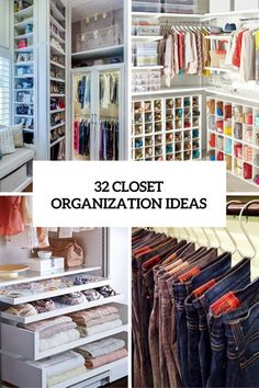 32 Ideas For Small Clothes Closet Organization Cabinets