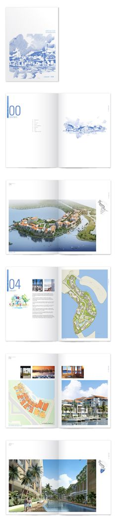 Architectural brochure, one color illustrations