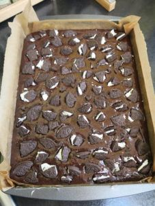 Recipe for delicious vegan oreo brownies - moist, chocolatey and so moreish! Dairy and egg free, can also be made gluten free if desired