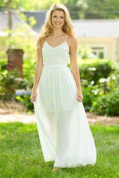 Summer Spirit Maxi Dress-Ivory