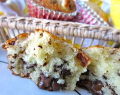 : Chocolate-muffins with marzipan & coconut