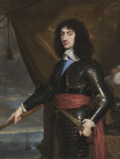 Portrait of King Charles II of England, cousin to and guest of Louis XIV, 1653 by Philippe de Champaigne