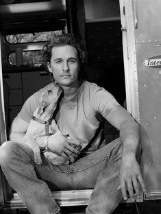 Matthew McConaughey, dogs plus sexy men equals mmmmm
