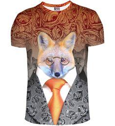 T-shirt ze wzorem Fox Man, Mr. GUGU & Miss GO