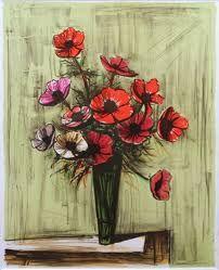 Znalezione obrazy dla zapytania bernard buffet flowers