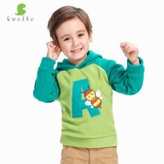 We love it and we know you also love it as well Svelte Brand Children Boys Girls Cute Cartoon Pattern Collision Color Fleece Hooded Jumpers Jackets Hoody for Kids pullovers just only $18.75 with free shipping worldwide  #boysclothing Plese click on picture to see our special price for you