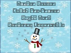 This is a great activity to help students practice sight words and sentence structure. The sentences have a winter / Christmas theme. In this activity students unscramble a mixed up words to create a sentence that makes sense.