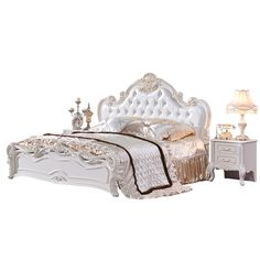 Very Cheap Price Antique White Bedroom Furniture Set #cream, #bedroom