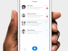 Communication and lightweight task management app concept.
