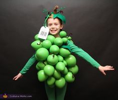 Amy: My 7 year old daughter loved this grape costume and so did everyone that saw her. She won first place at two different events with it. When I was a...