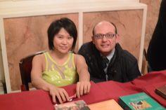 Me and Yuja Wang at the signing desk, Florence Teatro della Pergola, 2015-02-16.