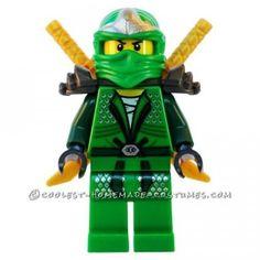 Coolest Homemade Green Ninjago Halloween Costume for a Boy