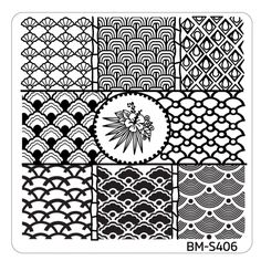 Hangloose Nail Art Manicure Stamping Plate - BM-S406, Fresh Scallops ($2.99)