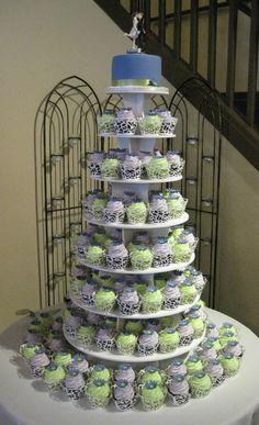 Our latest cupcake wedding cake for Kerri and Chris - Congrats