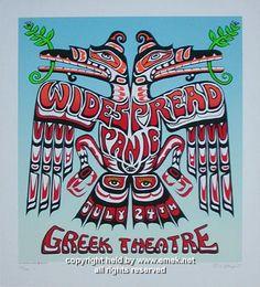 2002 Widespread Panic - LA Silkscreen Concert Poster by Emek