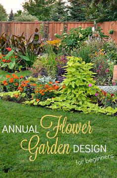 I'm totally intimidated by those formal garden design plans that you find in magazines and online. Yikes! I'm so happy I found this post about annual flower garden design for beginners! This makes it super easy, even I can do it!!