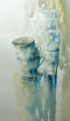 Janine Gallizia - Google zoeken Watercolor Sketch, Abstract Watercolor, Watercolor Illustration, Watercolor Paintings, Watercolors, A Level Art Themes, Art Aquarelle, Art Techniques, Oeuvre D'art
