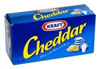 Kraft Cheddar Block Cheese 250g.